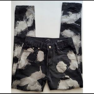Saint Laurent acid wash distressed jeans